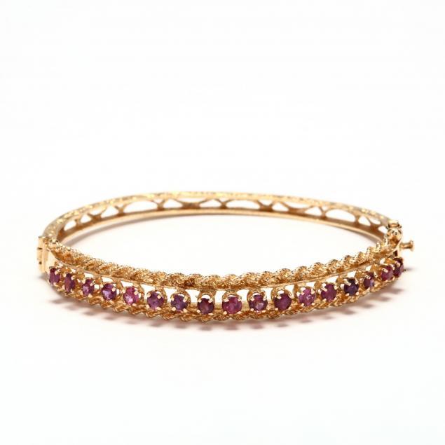 14kt-gold-and-ruby-bangle-bracelet