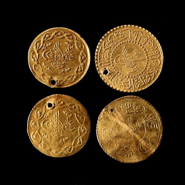 turkey-four-pierced-ottoman-gold-coins