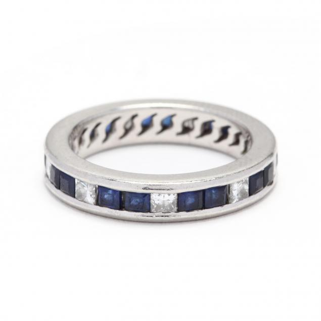 platinum-sapphire-and-diamond-eternity-band-jewelsmith