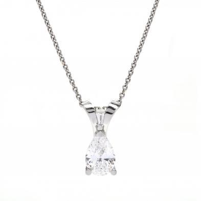 important-platinum-and-4-31-pear-cut-diamond-pendant-necklace-jewelsmith