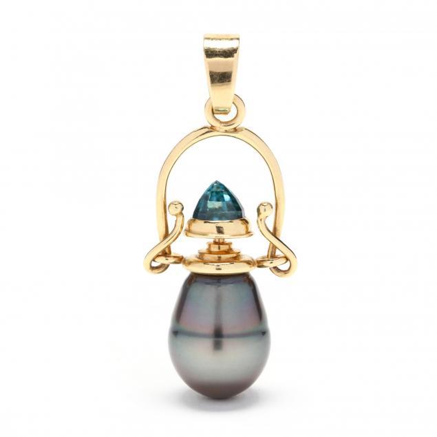 18kt-gold-tahitian-pearl-and-blue-zircon-perfume-pendant-jewelsmith
