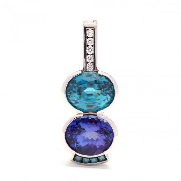 palladium-tanzanite-blue-zircon-and-diamond-pendant
