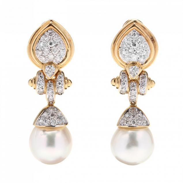 18kt-gold-south-sea-pearl-and-diamond-earrings