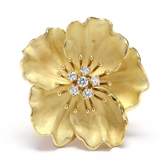 18kt-gold-and-diamond-flower-brooch-tiffany-co