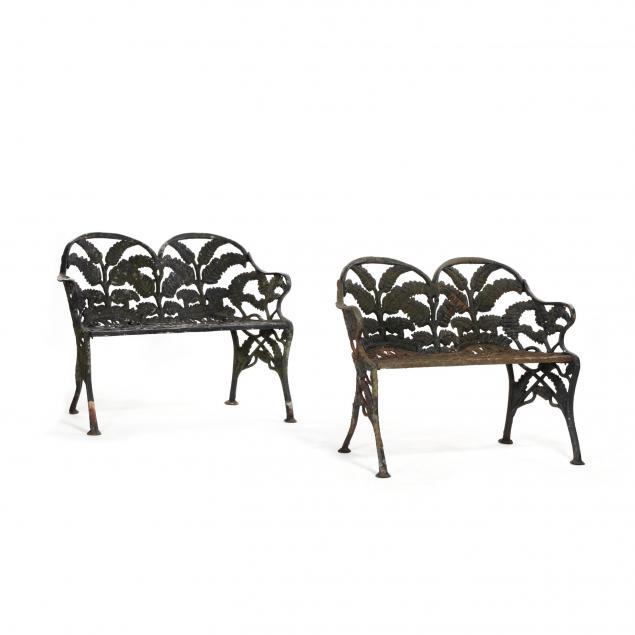 james-w-carr-richmond-va-pair-of-cast-iron-garden-benches