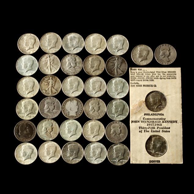 34-silver-half-dollar-coins-1893-1969