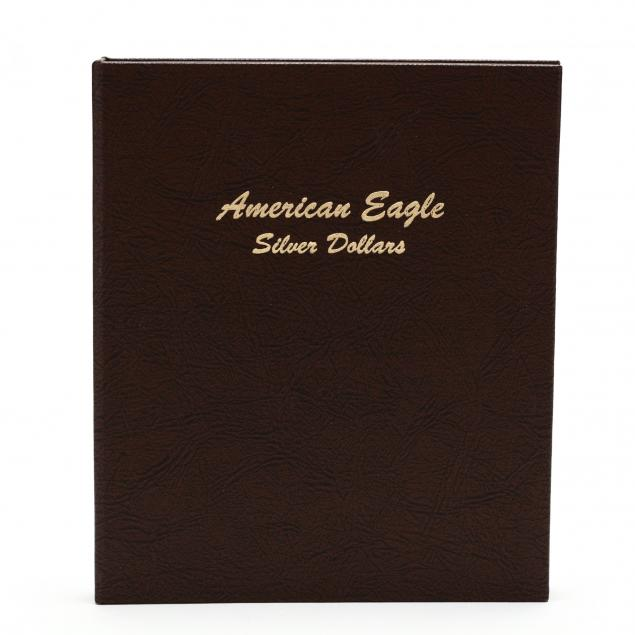 eleven-bu-american-silver-eagles-in-dansco-album