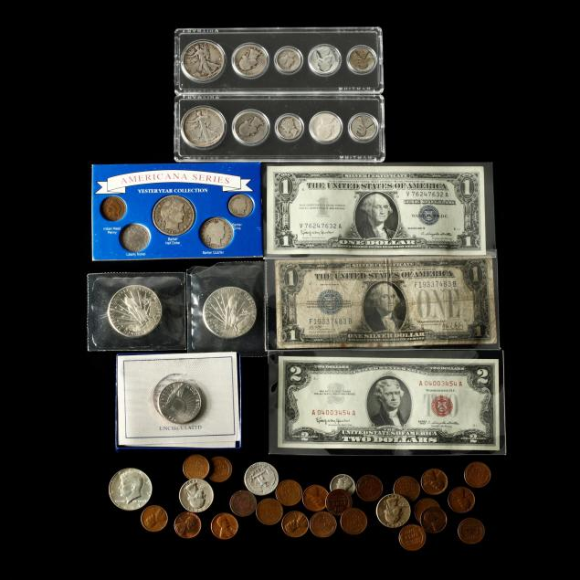 group-of-miscellaneous-obsolete-coins-and-notes