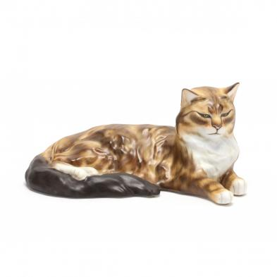a-herend-porcelain-natural-cat