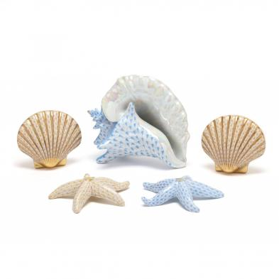 five-herend-fishnet-seashells
