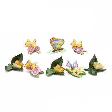 eight-herend-porcelain-butterflies