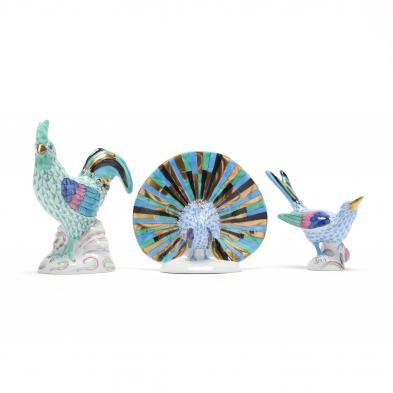 three-herend-porcelain-fishnet-fowl