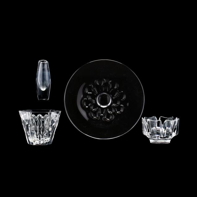 four-pieces-of-orrefors-crystal