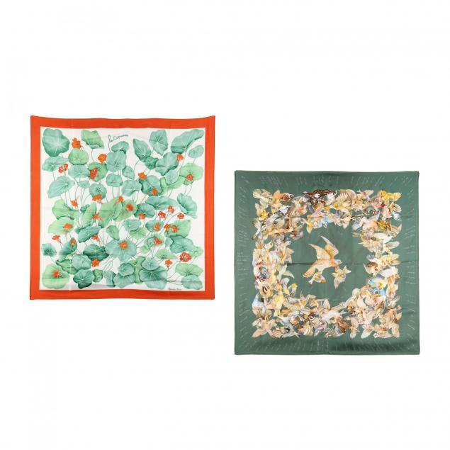 two-silk-scarves-i-l-intrus-i-and-i-les-capucines-i-hermes