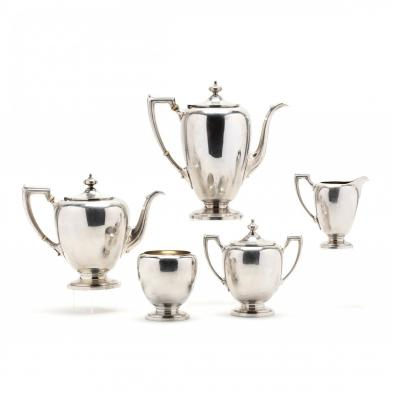 pointed-antique-sterling-silver-tea-coffee-service