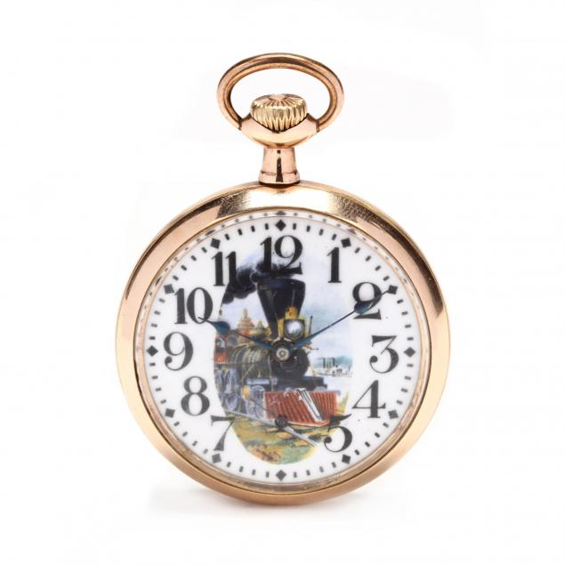 antique-gold-filled-open-face-father-time-pocket-watch-elgin