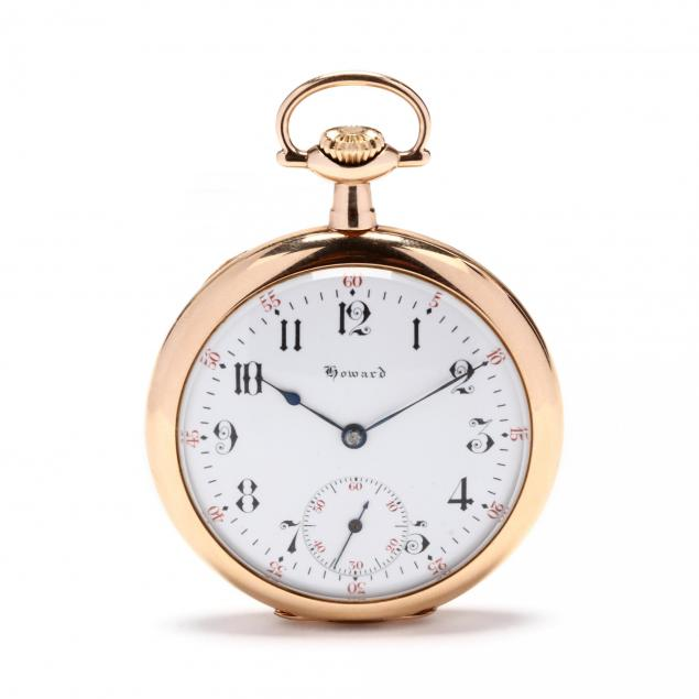 antique-gold-filled-open-face-pocket-watch-e-howard