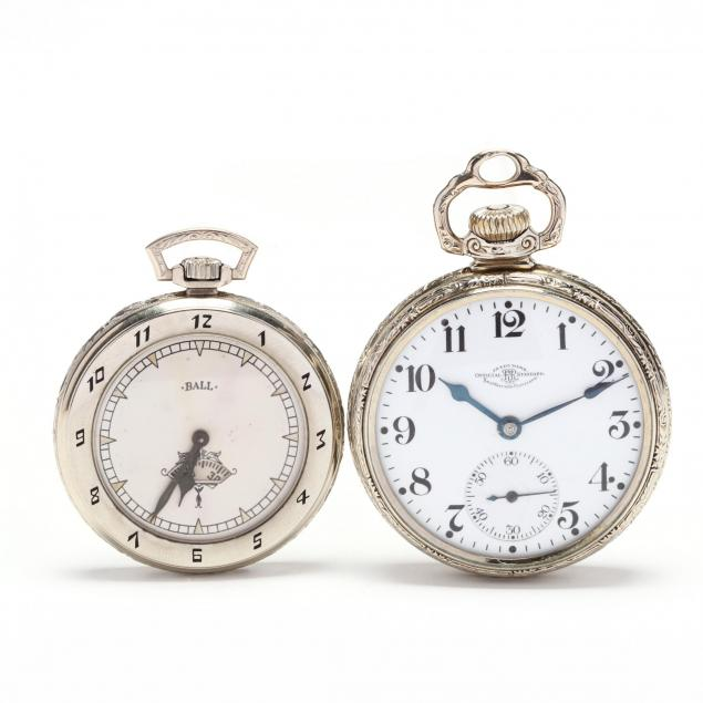 two-vintage-white-gold-filled-open-face-pocket-watches-ball
