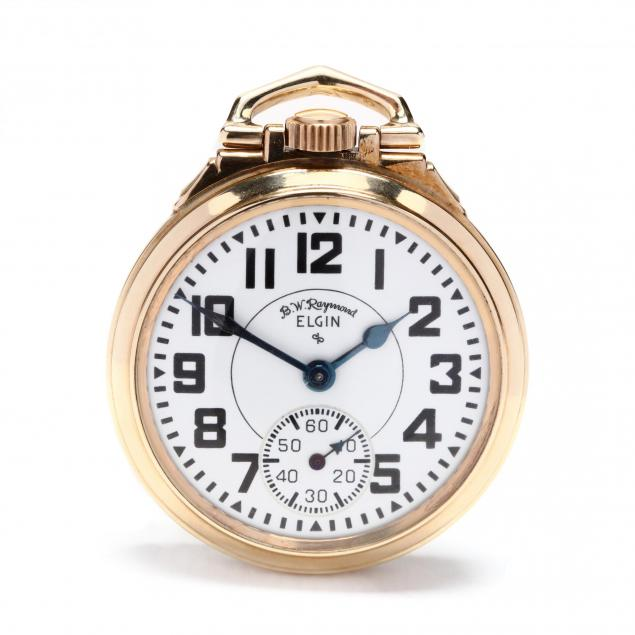 vintage-10kt-gold-filled-open-face-b-f-raymond-pocket-watch-elgin