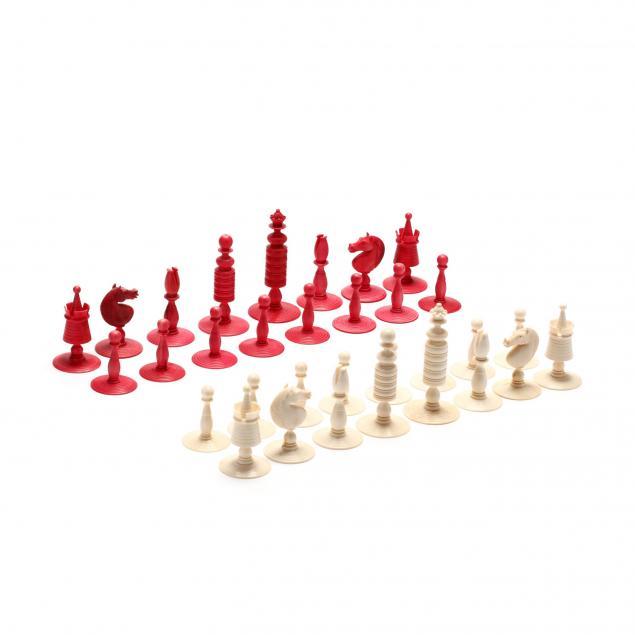 oleg-raikis-russia-20th-century-thomas-jefferson-mammoth-ivory-chess-set