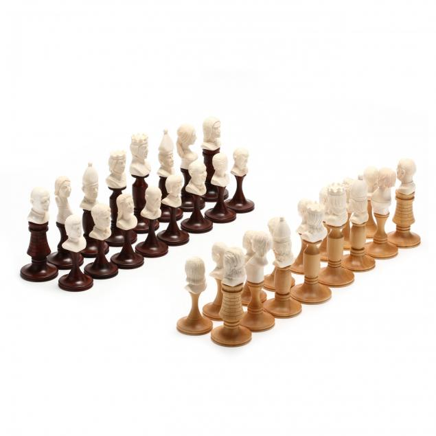 oleg-raikis-russia-20th-century-character-busts-chess-set