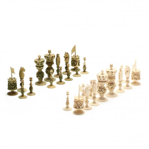 antique-burmese-chess-set