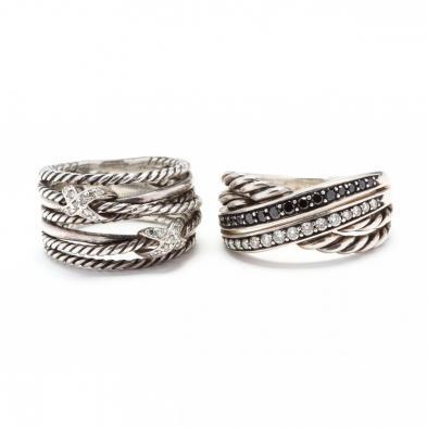 two-sterling-silver-and-gem-set-rings-david-yurman
