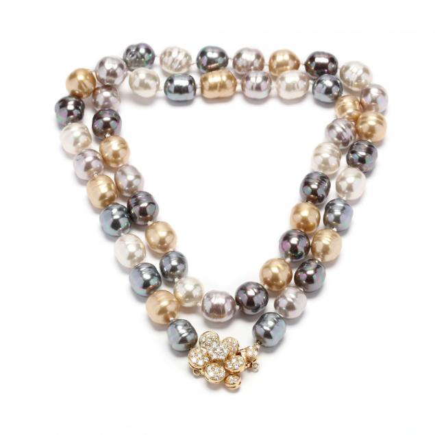 multi-color-faux-pearl-necklace-with-14kt-gold-and-diamond-clasp