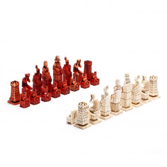 oleg-raikis-russia-20th-century-shakespeare-theater-chess-set-in-mammoth-ivory