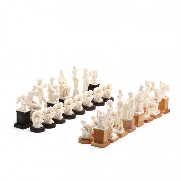 oleg-raikis-russia-20th-century-the-michelangelo-chess-set-in-mammoth-ivory