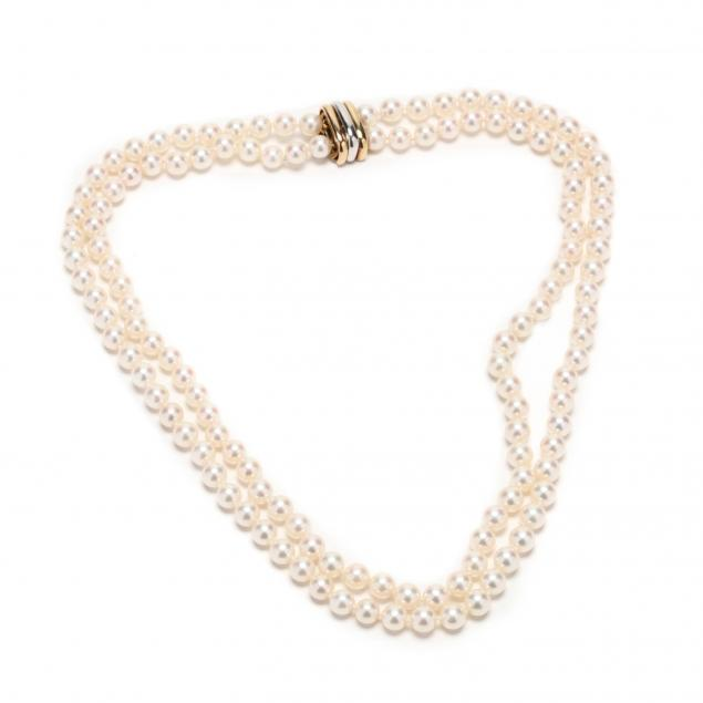 double-strand-pearl-necklace-with-18kt-bi-color-gold-clasp-cartier