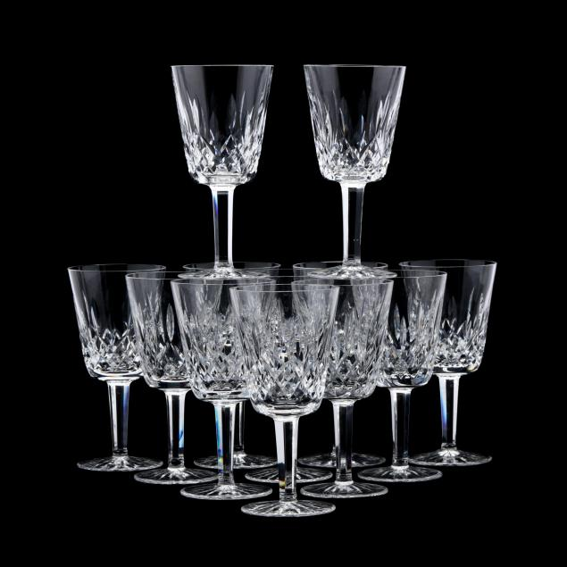 waterford-set-of-twelve-i-lismore-i-wine-stems