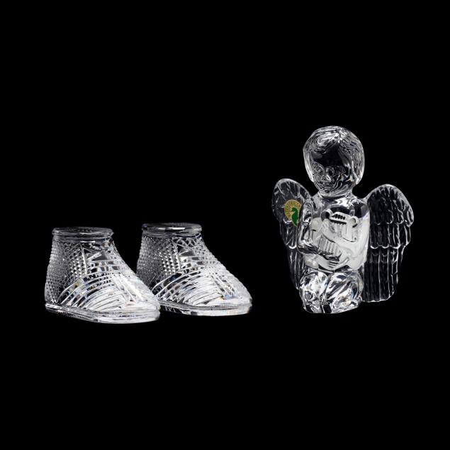 waterford-crystal-angel-and-pair-of-baby-booties