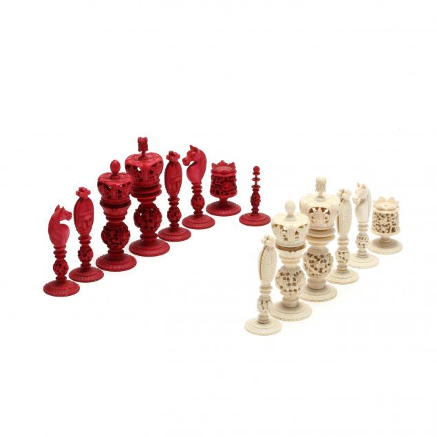 antique-cantonese-incomplete-ivory-chess-set