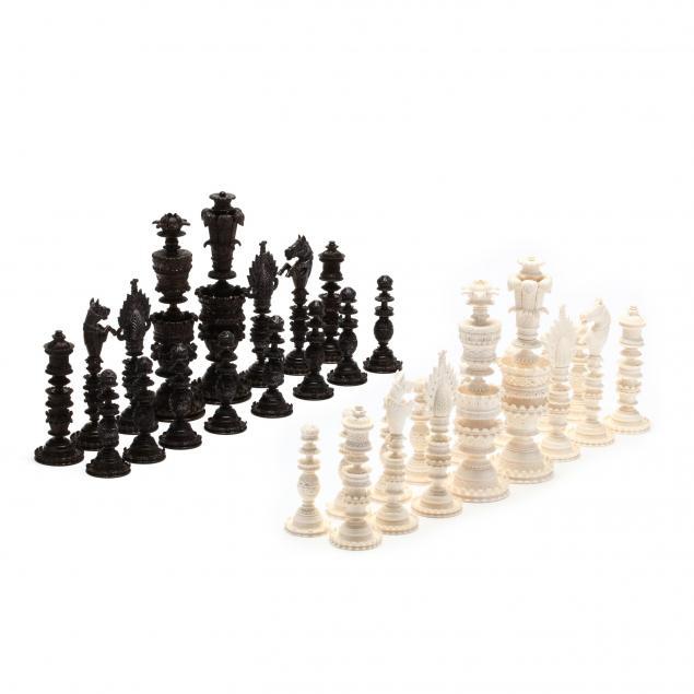 indian-vizagapatam-ivory-chess-set
