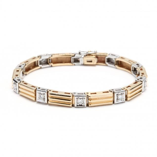 14kt-bi-color-gold-diamond-bracelet