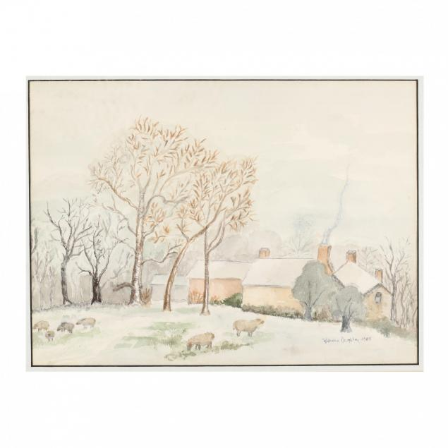 an-idyllic-watercolor-painting-of-a-farm-in-snow