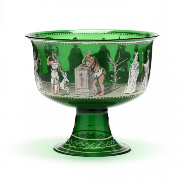 venetian-enamel-decorated-pedestal-bowl-with-greek-gods
