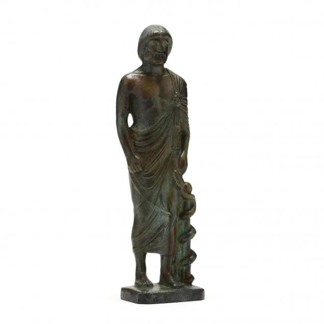 patinated-solid-cast-bronze-statuette-of-asklepios-the-god-of-medicine