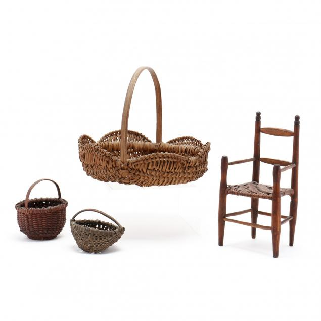 a-group-of-early-examples-of-basket-weaving