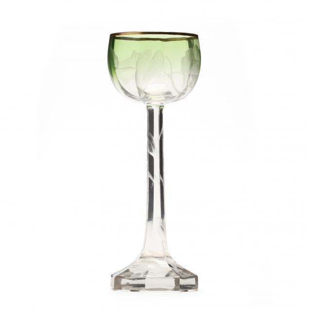 moser-engraved-glass-wine-stem