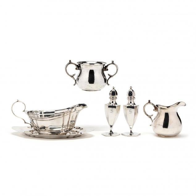 a-group-of-sterling-silver-dining-accessories