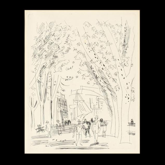 manner-of-raoul-dufy-view-of-a-promenade