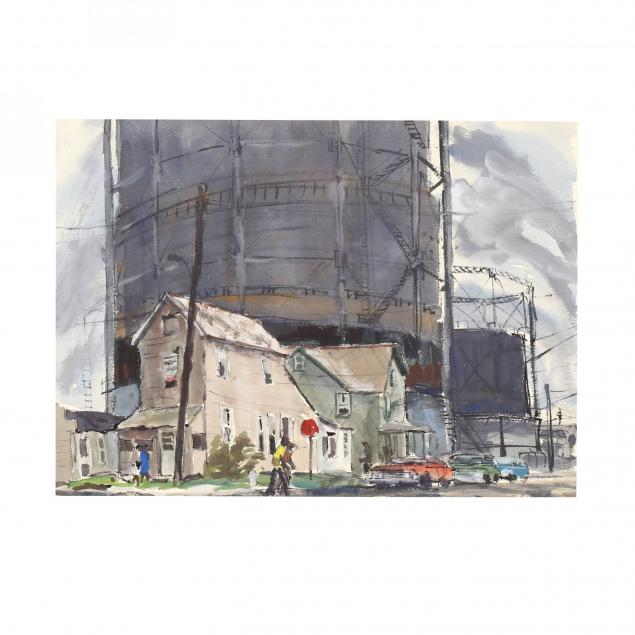 robert-c-magis-pa-1929-1979-street-scene-with-figures