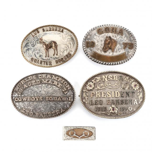 four-sterling-silver-belt-buckles-and-money-clip