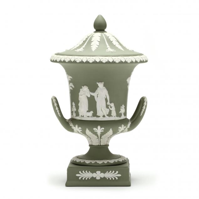 a-wedgwood-green-jasperware-urn