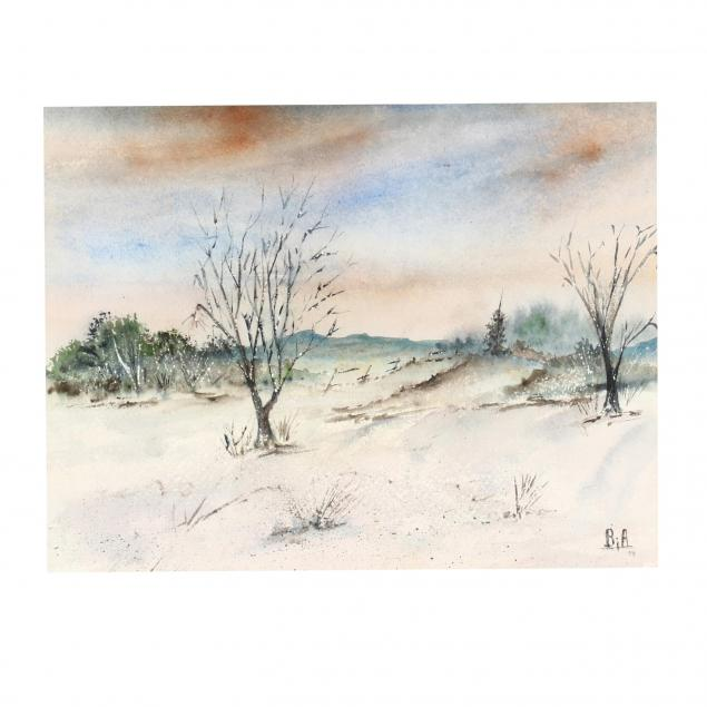 american-school-winter-landscape-painting