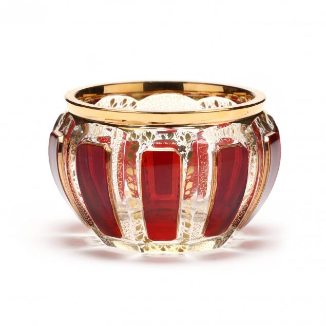 moser-ruby-cabochon-glass-bowl