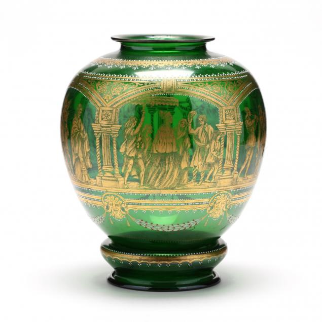 venetian-gilt-glass-jar-featuring-a-procession