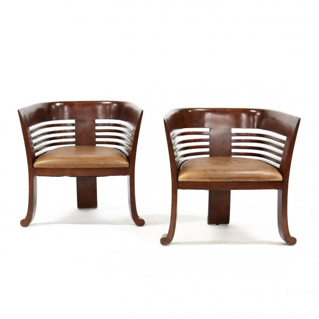 pair-of-modernist-barrel-back-club-chairs